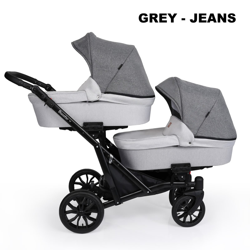 Carucior gemeni Kunert BOOSTER LIGHT 2 in 1 Grey Jeans