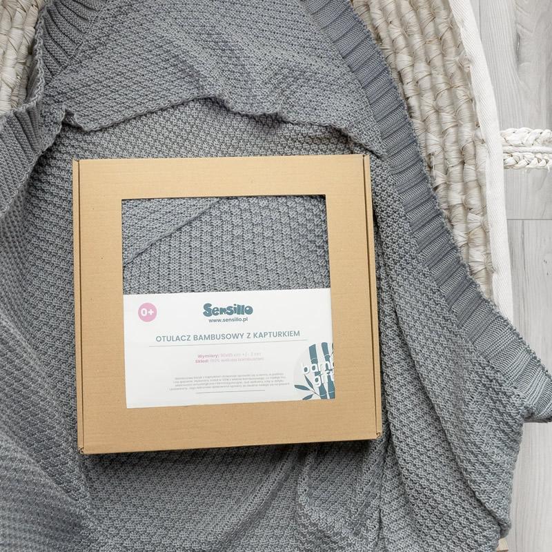 Paturica cu gluga bambus 100 cutie cadou graphite 4