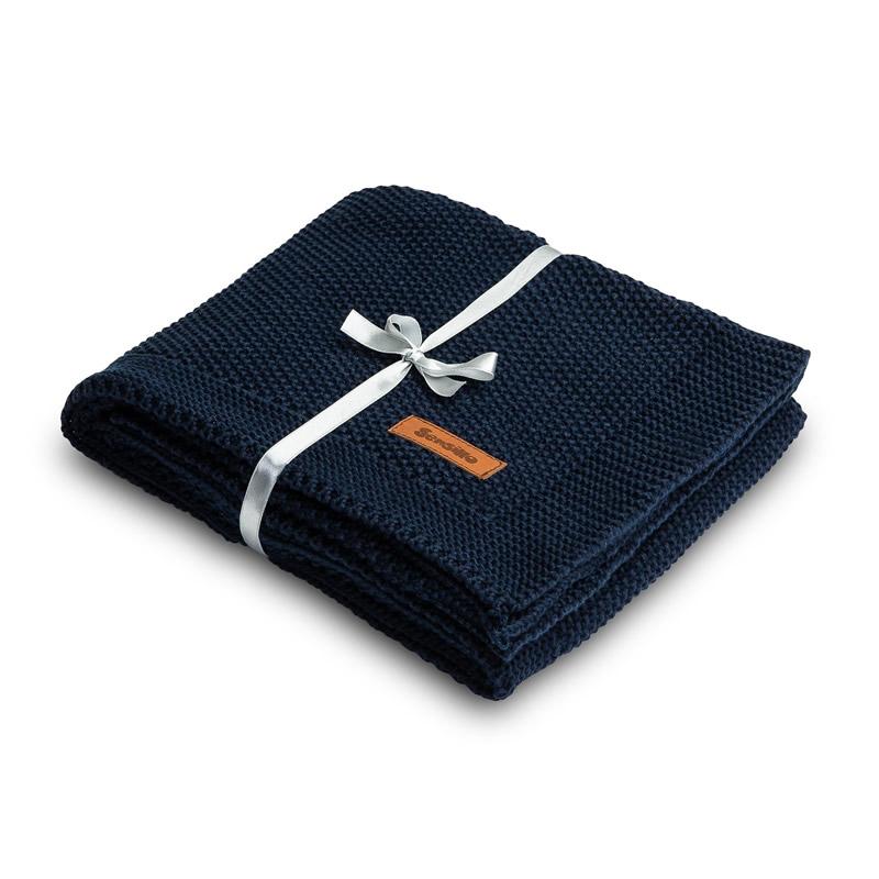 Paturica de bumbac tricotata Sensillo 100x80 cm navy 1