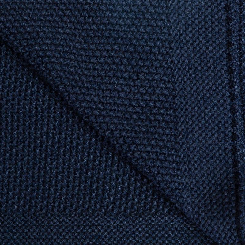 Paturica de bumbac tricotata Sensillo 100x80 cm navy 3