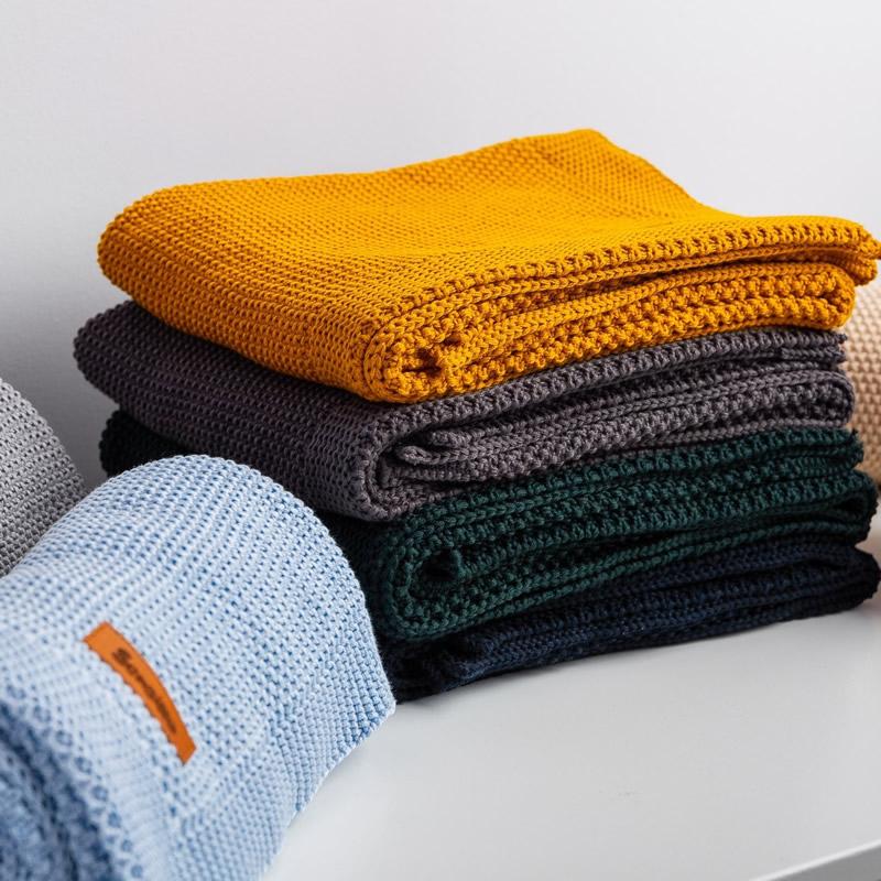 Paturica de bumbac tricotata Sensillo 100x80 cm z 2