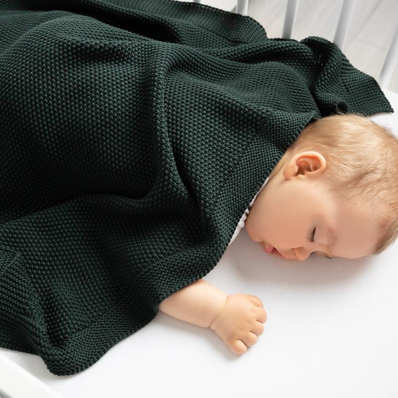 Paturica de bumbac tricotata Sensillo 100x80 cm z 3