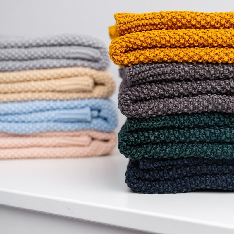 Paturica de bumbac tricotata Sensillo 100x80 cm z 4