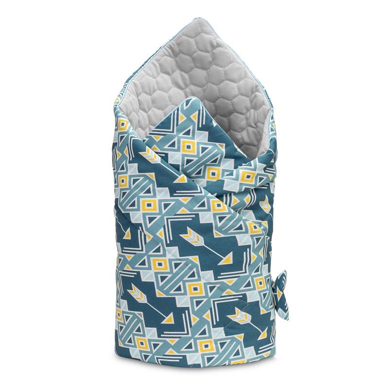 Paturica nou-nascut Sensillo Velvet Wrap 75x75 cm Ornament Navy Blue