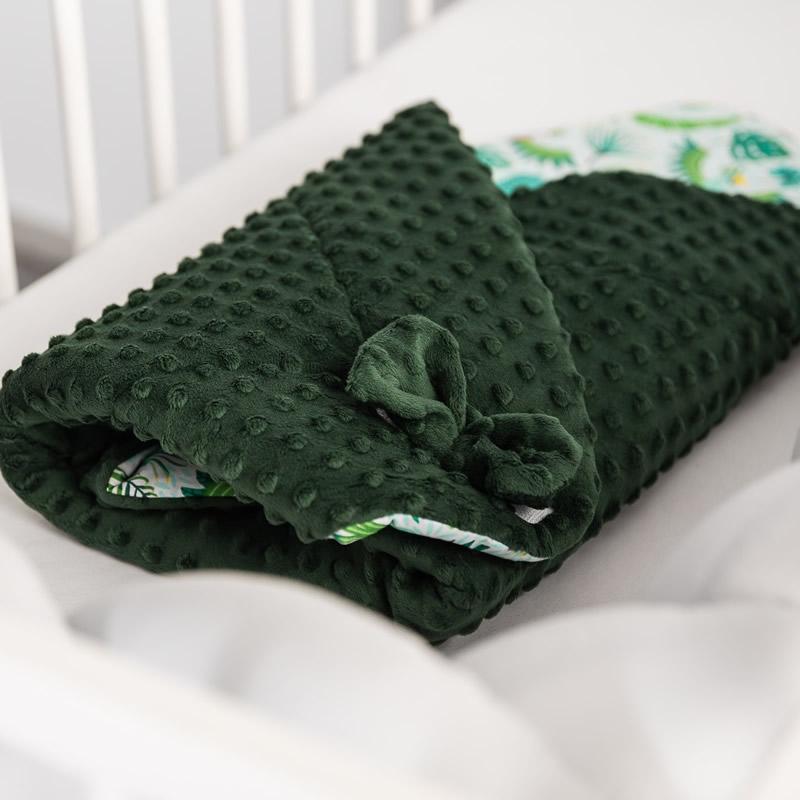 paturica nou nascut sensillo minky wrap 80x80 cm verde inchis 5