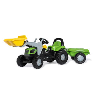 Tractor cu pedale remorca si cupa Rolly Toys RollyKid Deutz Fahr 5115 G TB 1