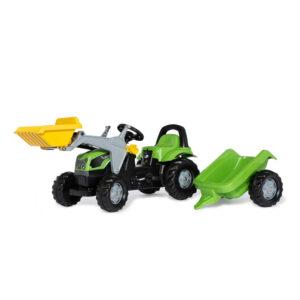 Tractor cu pedale remorca si cupa Rolly Toys RollyKid Deutz Fahr 5115 G TB