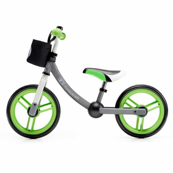 Bicicleta fara pedale 2Way Next Kinderkraft green grey 1