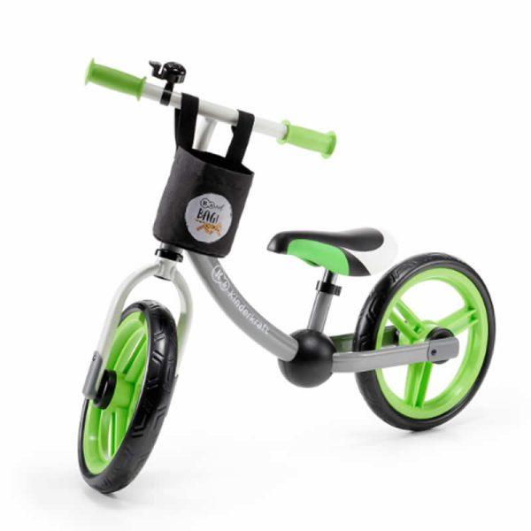 Bicicleta fara pedale 2Way Next Kinderkraft green grey 4