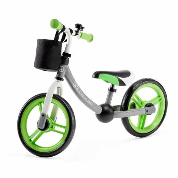 Bicicleta fara pedale 2Way Next Kinderkraft green grey 5