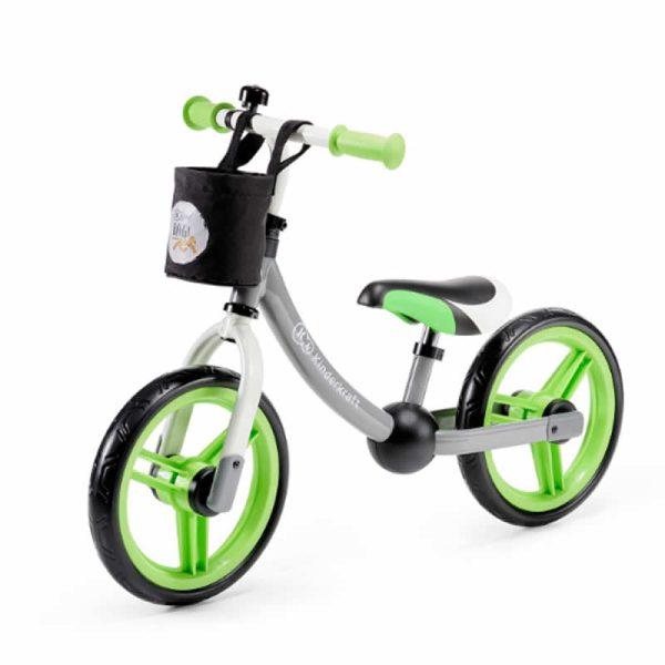 Bicicleta fara pedale 2Way Next Kinderkraft green grey