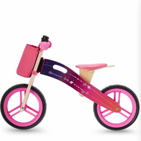 Bicicleta fara pedale RUNNER kinderkraft GALAXY PINK 1