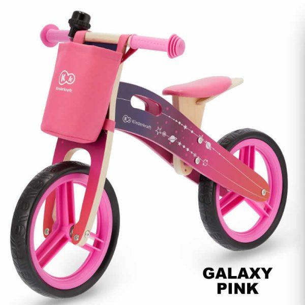 Bicicleta fara pedale RUNNER kinderkraft GALAXY PINK