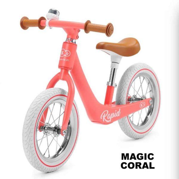 Bicicleta fara pedale Rapid Kinderkraft MAGIC CORAL