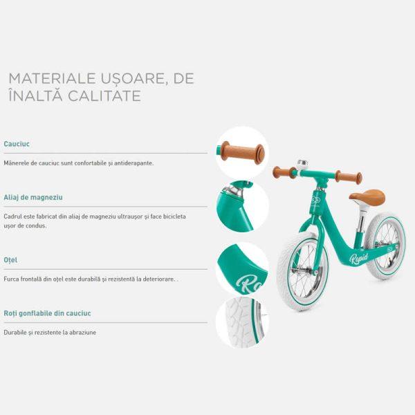 Bicicleta fara pedale Rapid Kinderkraft z 10