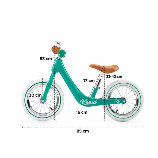 Bicicleta fara pedale Rapid Kinderkraft z 12