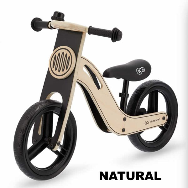 Bicicleta fara pedale Uniq Kinderkraft NATURAL