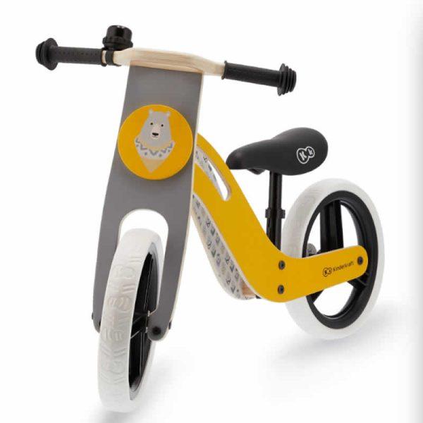Bicicleta fara pedale Uniq Kinderkraft honey yellow 2
