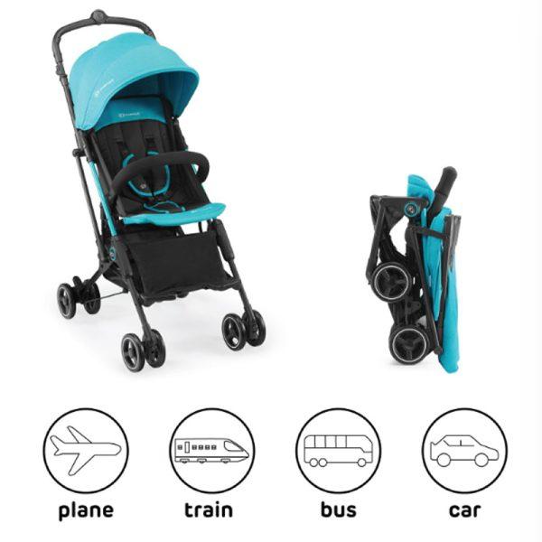 Carucior Mini Dot Kinderkraft turquoise 9