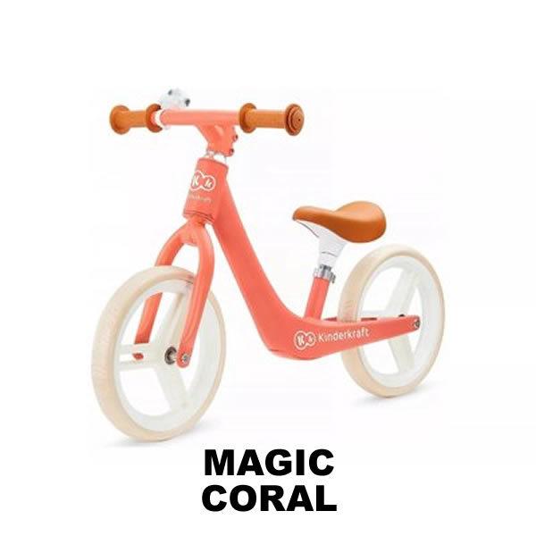 bicicleta fara pedale fly plus kinderkraft magic coral
