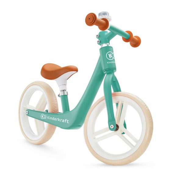 bicicleta fara pedale fly plus kinderkraft midnight green 1