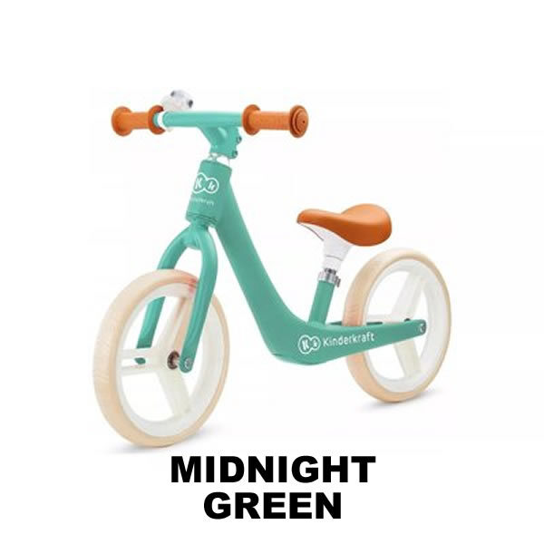bicicleta fara pedale fly plus kinderkraft midnight green