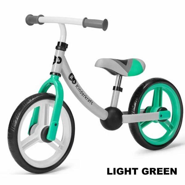 Bicicleta fara pedale Kinderkraft 2Way Next light green