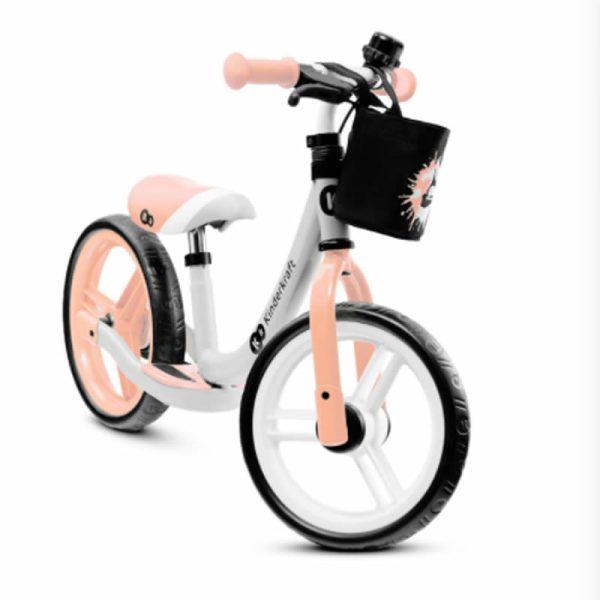 Bicicleta fara pedale Kinderkraft SPACE 2021 peach coral 1