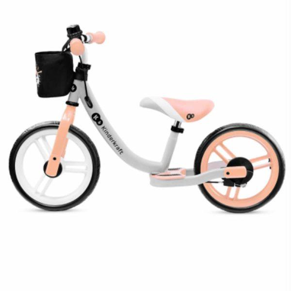 Bicicleta fara pedale Kinderkraft SPACE 2021 peach coral 2