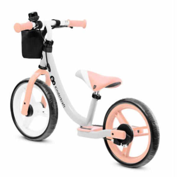 Bicicleta fara pedale Kinderkraft SPACE 2021 peach coral 3