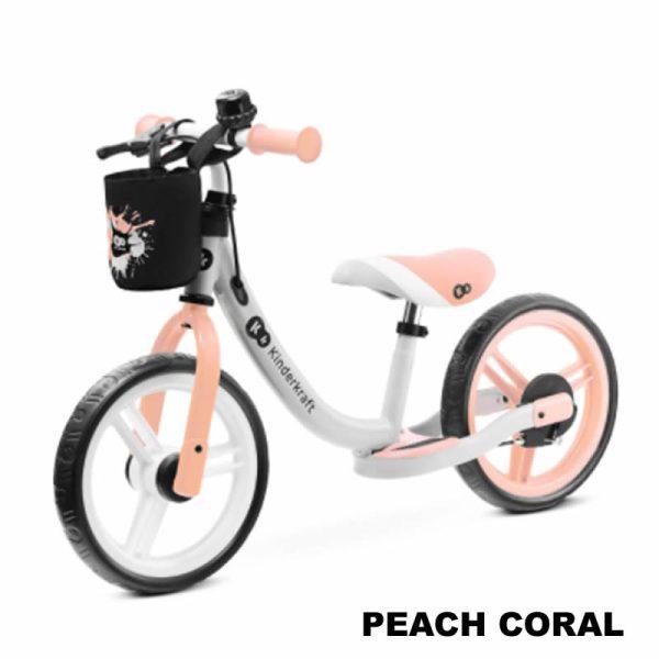 Bicicleta fara pedale Kinderkraft SPACE 2021 peach coral