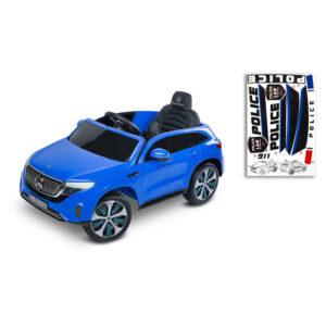 Masinuta electrica cu telecomanda Toyz MERCEDES BENZ EQC POLICE 12V blue 2