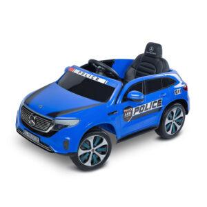Masinuta electrica cu telecomanda Toyz MERCEDES-BENZ EQC POLICE 12V Blue