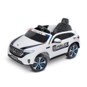 Masinuta electrica cu telecomanda Toyz MERCEDES-BENZ EQC POLICE 12V White