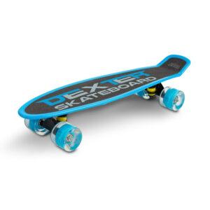 Skateboard cu casca si cotiere si genunchiere Toyz DEXTER albastru 1