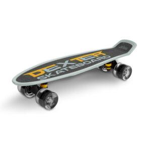 Skateboard cu casca si cotiere si genunchiere Toyz DEXTER gri 1