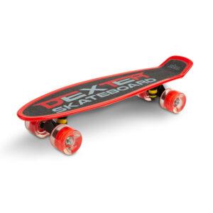 Skateboard cu casca si cotiere si genunchiere Toyz DEXTER rosu 1