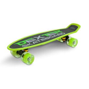Skateboard cu casca si cotiere si genunchiere Toyz DEXTER verde 1