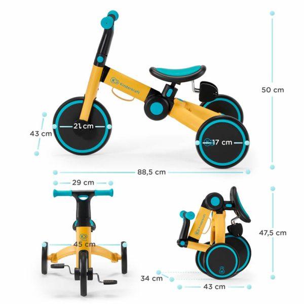 Tricicleta 4Trike Kinderkraft z 15