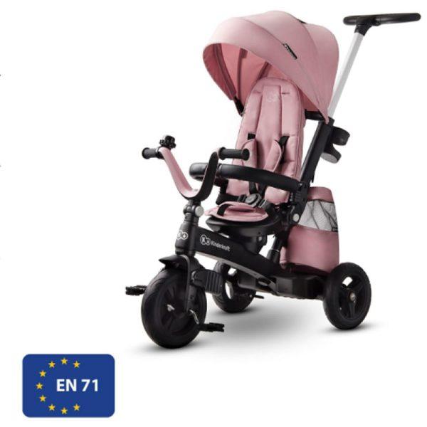 Tricicleta 5 in 1 Kinderkraft EASYTWIST mauvelous pink 11