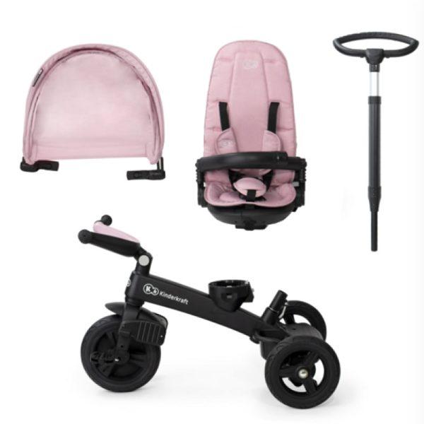 Tricicleta 5 in 1 Kinderkraft EASYTWIST mauvelous pink 13