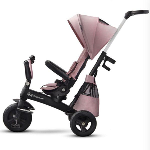 Tricicleta 5 in 1 Kinderkraft EASYTWIST mauvelous pink 7