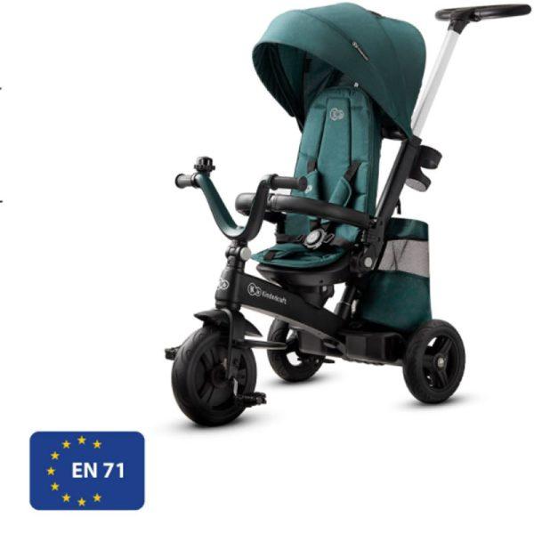 Tricicleta 5 in 1 Kinderkraft EASYTWIST midnight green 11