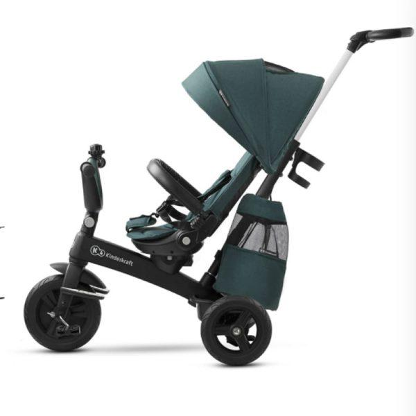Tricicleta 5 in 1 Kinderkraft EASYTWIST midnight green 4