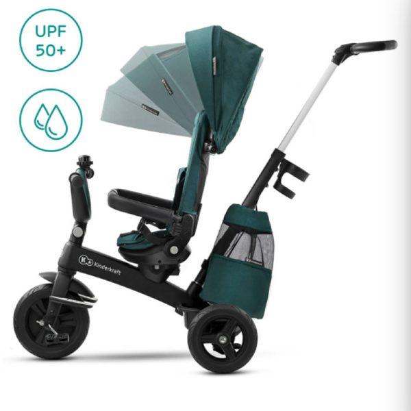 Tricicleta 5 in 1 Kinderkraft EASYTWIST midnight green 5
