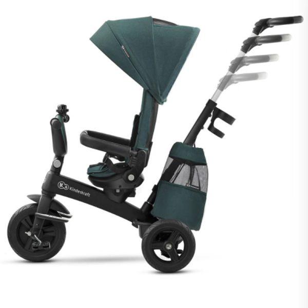 Tricicleta 5 in 1 Kinderkraft EASYTWIST midnight green 6