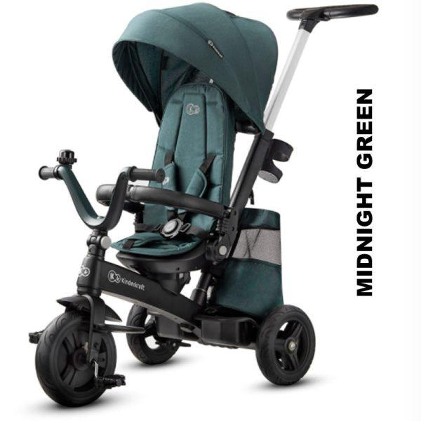 Tricicleta 5 in 1 Kinderkraft EASYTWIST midnight green