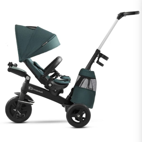 Tricicleta 5 in 1 Kinderkraft EASYTWIST midnight green 7