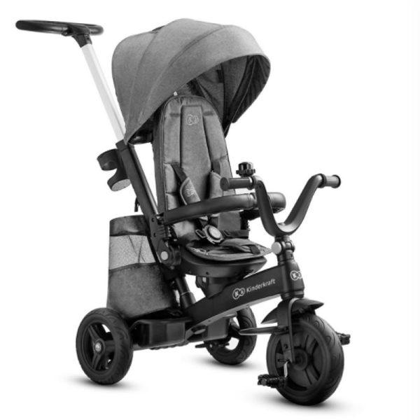 Tricicleta 5 in 1 Kinderkraft EASYTWIST platinum grey 1