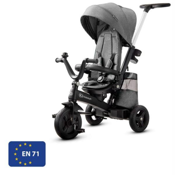 Tricicleta 5 in 1 Kinderkraft EASYTWIST platinum grey 10